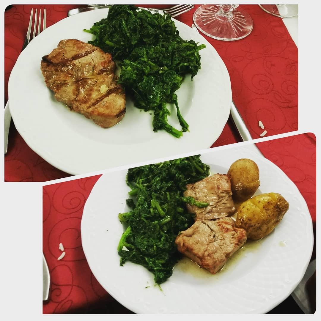 Com batata ou sem batata o sabor é o mesmo... Medalhões de carne acompanhados com grelos e batata... ou não.
