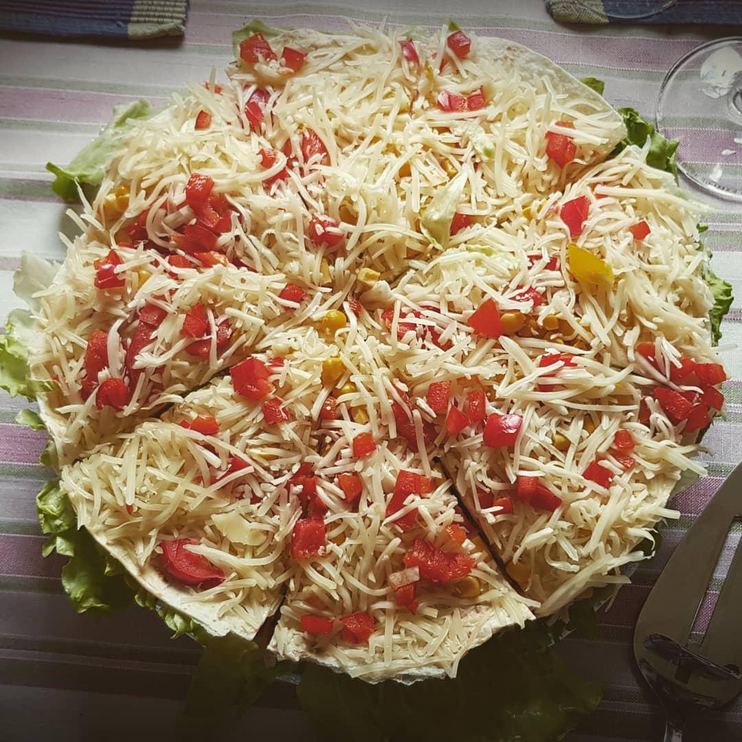 Salada em casa de amigos